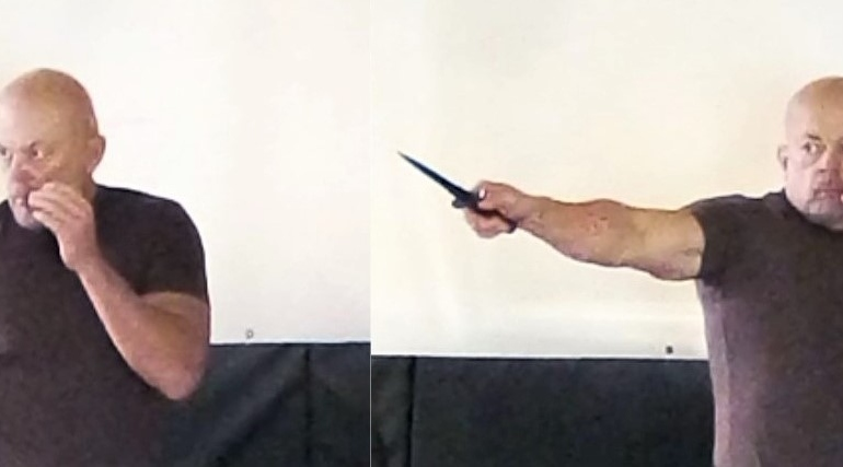 """Dermot """"Pat"""" O'Neill's Knife Technique"""