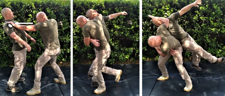 THE REVERSE HIP THROW: Neck and arm variation